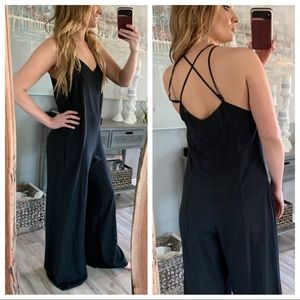Urban outfitters sparkle + fade black jumpsuit